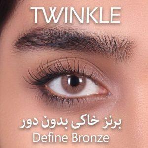lens hazel define bronze twinkle close shot 300x300 - لنز های رنگی