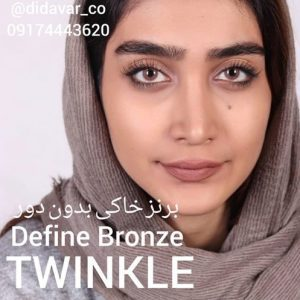 lens hazel define bronze twinkle model sutdio light full face 300x300 - لنز های رنگی